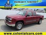 2006 Sport Red Metallic Chevrolet Silverado 1500 LT Extended Cab 4x4 #69150578