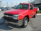 2005 Victory Red Chevrolet Silverado 1500 Regular Cab 4x4 #69150209