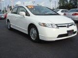 2007 Taffeta White Honda Civic Hybrid Sedan #69150469