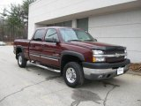 2003 Dark Carmine Red Metallic Chevrolet Silverado 2500HD LT Crew Cab 4x4 #6911831