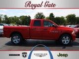 2012 Flame Red Dodge Ram 1500 Express Quad Cab 4x4 #69149745