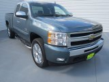 2009 Blue Granite Metallic Chevrolet Silverado 1500 LT Texas Edition Extended Cab #69150036