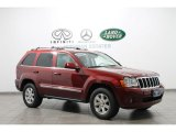 2008 Red Rock Crystal Pearl Jeep Grand Cherokee Limited 4x4 #69150367
