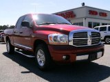 2006 Inferno Red Crystal Pearl Dodge Ram 1500 Laramie Quad Cab #6908924