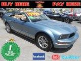 2005 Windveil Blue Metallic Ford Mustang V6 Premium Convertible #69150332