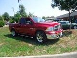 2010 Inferno Red Crystal Pearl Dodge Ram 1500 Big Horn Quad Cab #69150322
