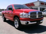 2007 Flame Red Dodge Ram 1500 SLT Quad Cab #6908925