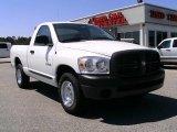 2008 Bright White Dodge Ram 1500 ST Regular Cab #6908892