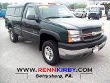 2003 Dark Green Metallic Chevrolet Silverado 2500HD Regular Cab 4x4 #69214108