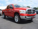 2007 Flame Red Dodge Ram 1500 Big Horn Edition Quad Cab 4x4 #69214377
