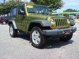 2010 Rescue Green Metallic Jeep Wrangler Sport 4x4 #69213625