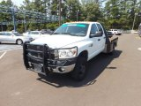 2008 Bright White Dodge Ram 3500 ST Quad Cab 4x4 Chassis #69214239