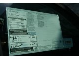 2012 Toyota Tundra Platinum CrewMax 4x4 Window Sticker