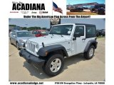 2012 Bright White Jeep Wrangler Sport 4x4 #69213841