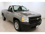 2009 Graystone Metallic Chevrolet Silverado 1500 Regular Cab #69214180