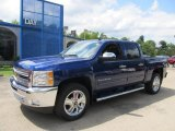2013 Blue Topaz Metallic Chevrolet Silverado 1500 LT Crew Cab 4x4 #69275094