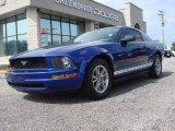 2005 Sonic Blue Metallic Ford Mustang V6 Deluxe Coupe #69275077