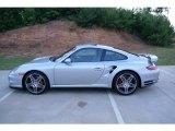 2007 Arctic Silver Metallic Porsche 911 Turbo Coupe #69275354