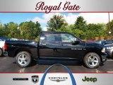 2012 Black Dodge Ram 1500 Big Horn Crew Cab 4x4 #69275308