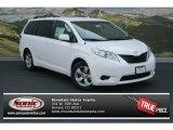 2012 Super White Toyota Sienna LE #69274961