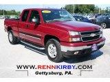 2006 Sport Red Metallic Chevrolet Silverado 1500 LT Extended Cab 4x4 #69301167