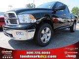 2012 Black Dodge Ram 1500 Big Horn Quad Cab 4x4 #69307974