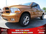 2012 Tequila Sunrise Pearl Dodge Ram 1500 Express Quad Cab #69307973