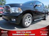 2012 Black Dodge Ram 1500 Laramie Longhorn Crew Cab 4x4 #69307970
