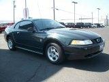 1999 Dark Green Satin Metallic Ford Mustang V6 Coupe #69307898