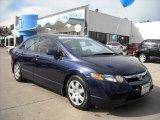 2007 Royal Blue Pearl Honda Civic LX Sedan #6900530
