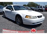 2000 Crystal White Ford Mustang V6 Coupe #69307743