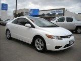 2007 Taffeta White Honda Civic EX Coupe #6900569
