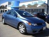2007 Atomic Blue Metallic Honda Civic LX Coupe #6900620