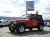 2006 Impact Orange Jeep Wrangler Rubicon 4x4 #69308064