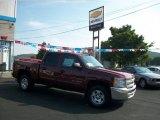 2013 Deep Ruby Metallic Chevrolet Silverado 1500 LT Crew Cab 4x4 #69351158