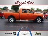2010 Mango Tango Pearl Dodge Ram 1500 Big Horn Quad Cab 4x4 #69351101
