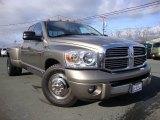 2008 Light Khaki Metallic Dodge Ram 3500 Laramie Quad Cab Dually #69404308