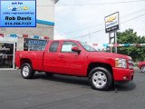2012 Victory Red Chevrolet Silverado 1500 LT Extended Cab 4x4 #69404006