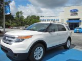 2013 White Platinum Tri-Coat Ford Explorer XLT EcoBoost #69460875