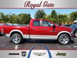 2012 Deep Cherry Red Crystal Pearl Dodge Ram 1500 Laramie Quad Cab 4x4 #69461431