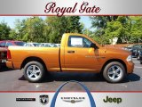 2012 Tequila Sunrise Pearl Dodge Ram 1500 Express Regular Cab 4x4 #69460768
