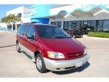 1998 Sunfire Red Pearl Metallic Toyota Sienna XLE #6900640