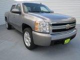 2008 Graystone Metallic Chevrolet Silverado 1500 LT Crew Cab #69461016