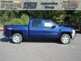 2012 Blue Topaz Metallic Chevrolet Silverado 1500 LT Crew Cab 4x4 #69460958