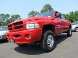 1999 Flame Red Dodge Ram 1500 Sport Extended Cab 4x4 #69524254