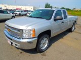 2013 Silver Ice Metallic Chevrolet Silverado 1500 LT Extended Cab 4x4 #69523888