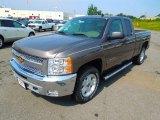 2013 Mocha Steel Metallic Chevrolet Silverado 1500 LT Extended Cab 4x4 #69523887