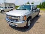 2013 Silver Ice Metallic Chevrolet Silverado 1500 LT Crew Cab #69523885