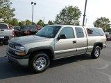 2001 Light Pewter Metallic Chevrolet Silverado 1500 Extended Cab 4x4 #69523497