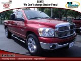 2008 Inferno Red Crystal Pearl Dodge Ram 1500 Big Horn Edition Quad Cab #69524087